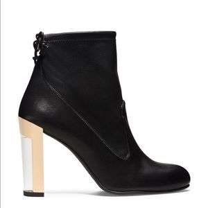 The grove bootie with Lucite Heel